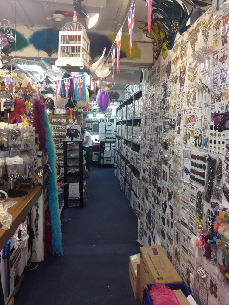 Sourcing bits and pieces for hats in London darling!